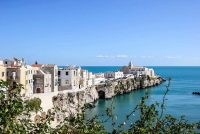 A picturesque cliff by the seaside in Puglia. Where is Puglia? It's the easternmost region in Italy.