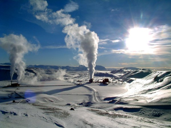 "Geothermal energy means heat that is extracted from the Earth's interior and converted into energy. ""Geo"" means earth and ""thermal"" means heat. (wikicommon)"