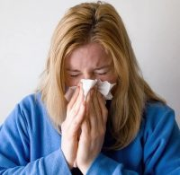 Swine flu symptoms are similar to seasonal human flu symptoms including sore throat, cough, fever, runny nose, body aches, as well as chills, fatigue, headaches.